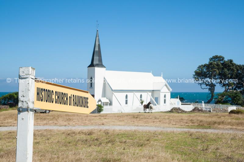 Historic Raukokore Church. New Zealand images.