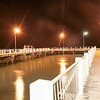 Whakatane, New Zealand, Ohope Warf at night-