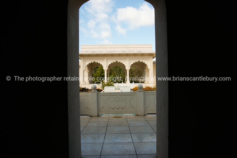 Italian Garden through arch.