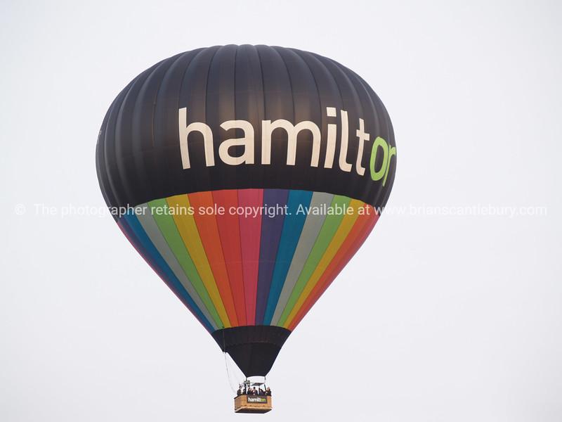 Hamilton Balloon against white background.
