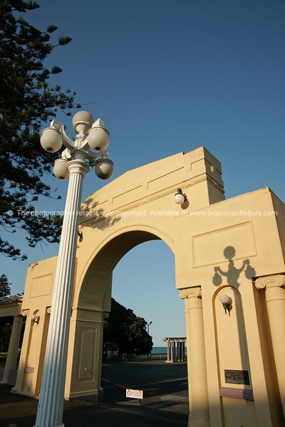 Millennium Arch, Marine Parade, Napier. New Zealand Image.