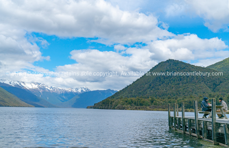 Scenic Lake Rotoroa in Nelson Lakes National Park South Island