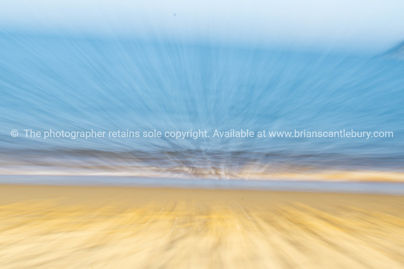 Coastal abstract golden sand blue water