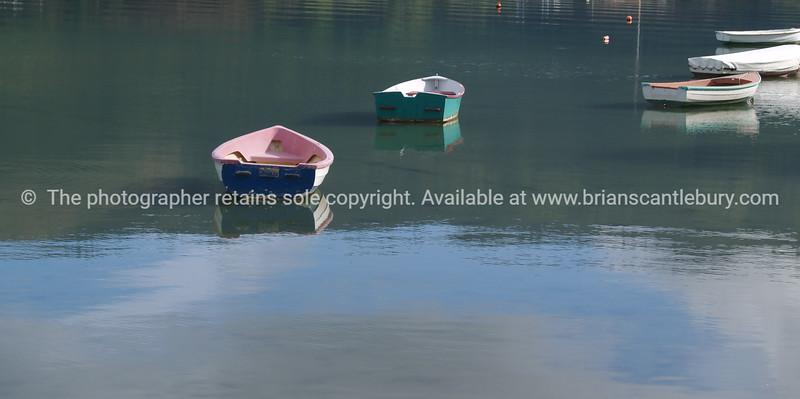 Dinghies on Kenepuru Sound.  New Images.