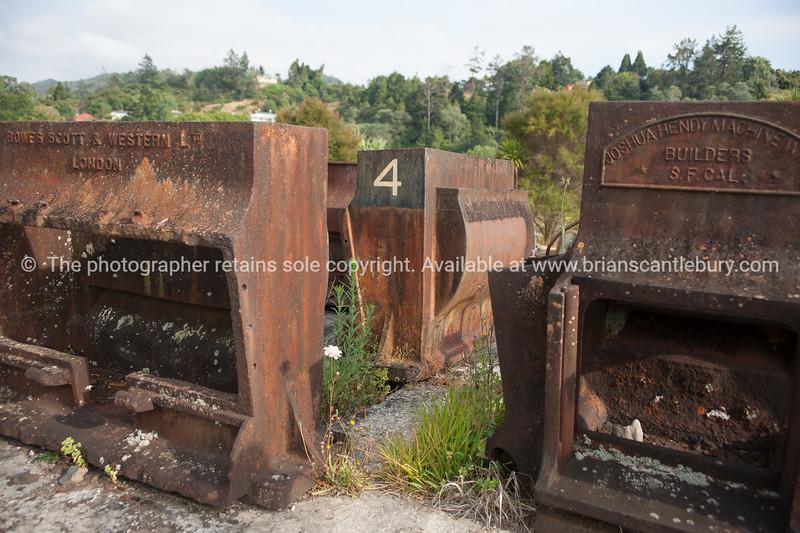 Old mining equipment in Karangahake Gorge, Waikato. New Zealand image