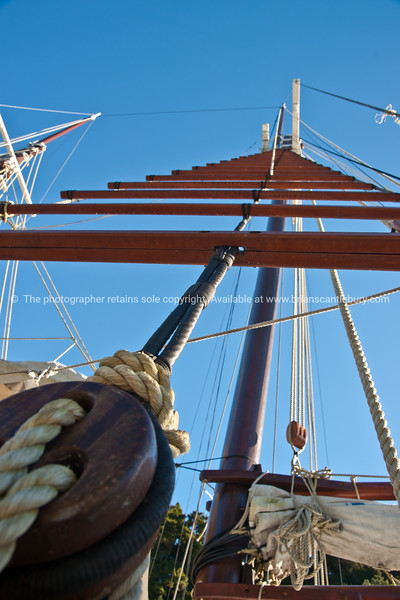 The Jane Gifford, rigging and mast ladder.