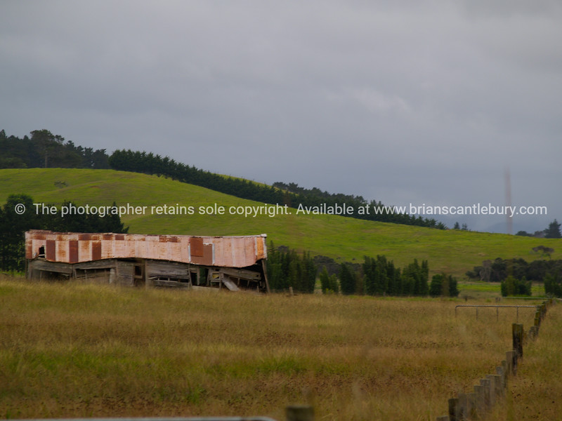 Old farm shed, in Far North, New Zealand.