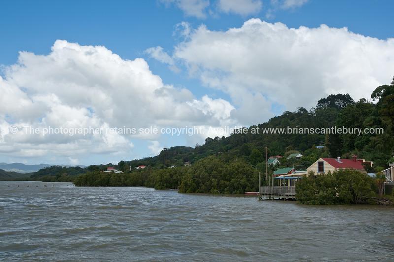 Kohukohu, on Hokianga harbour and mangroves.
