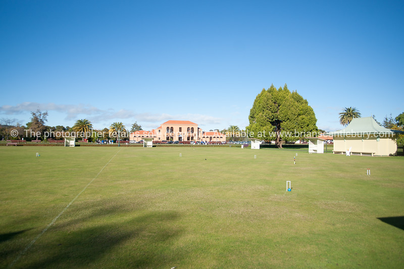 Croquet lawn  in front of Rotorua Bath House and Museum