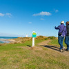 Heritage trail one of Great Walks of New Zealand approaches Waipapa Point Lighthouse.