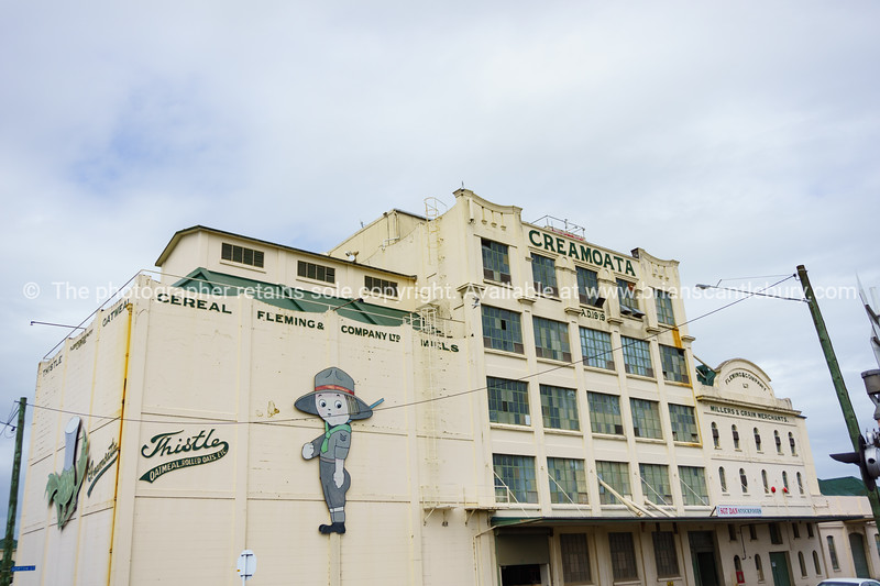 Fleming's Creamoata cereal mill buildings and signage