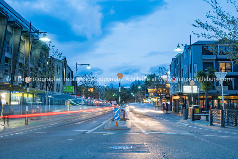 Famous Queenstown at night.