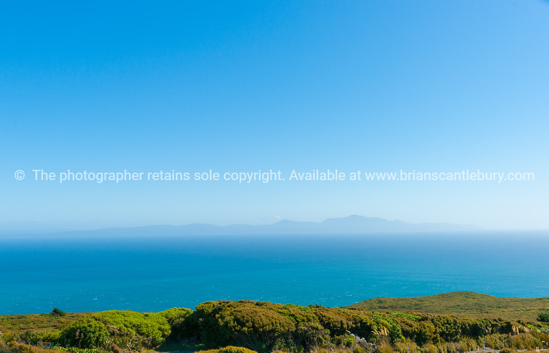 Shadow of Sterart Island on horizon from Bluff Hill lookout