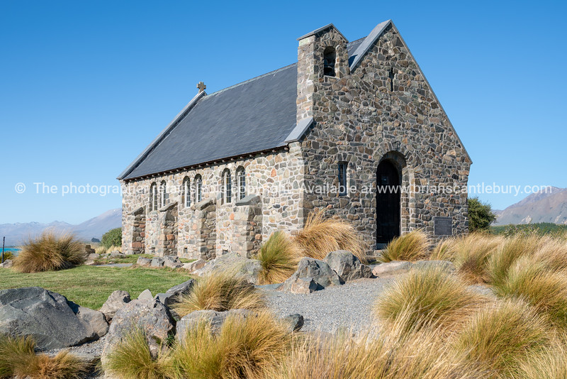 Historic small stone church at Tekapo