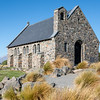 Historic small stone church at Tekapo