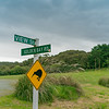 Stewart Island street sign and kiwi graphic