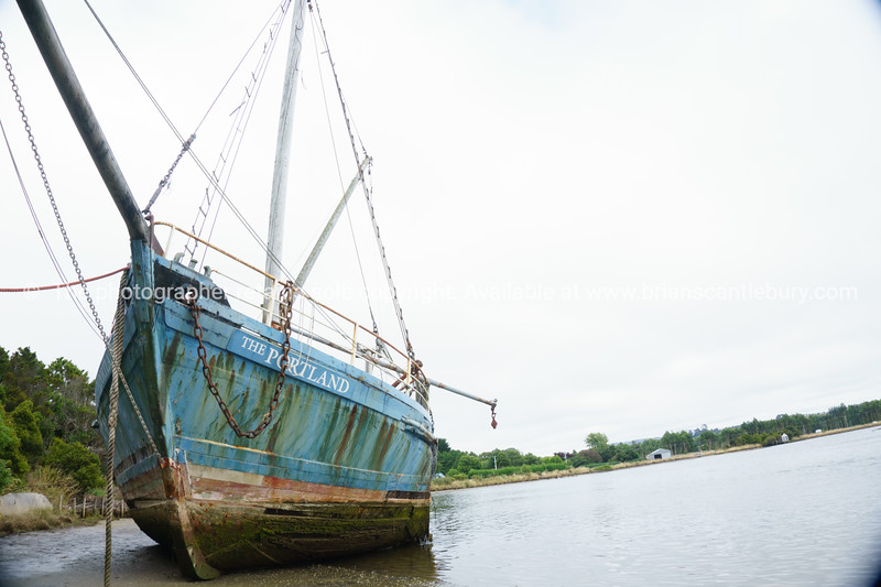 Wreck of The Portland, old neglected scow