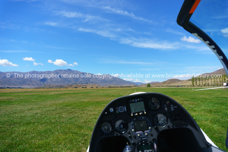 View from withing glider cockpit