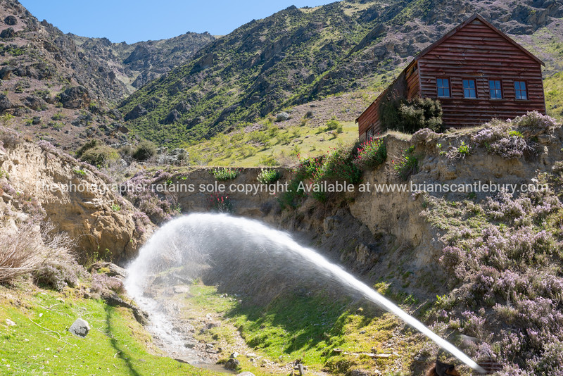 Site of old historic gold mining village in Kawarau Gorge in Central Otago, New Zealand.