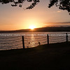 Sun sets across Lake Taupo.