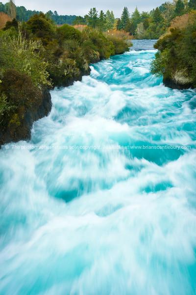 Huka Falls on Waikato River.