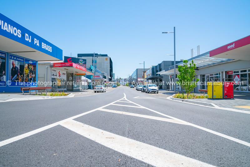 Tauranga city street and buildings.