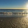 Papamoa Beach, outlok to horizon beautiful glow into  sunrise