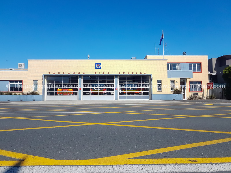 Tauranga Firestation building across Cameron Raod in the city.