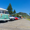 VW Kombi parked along Marine Parade walkway