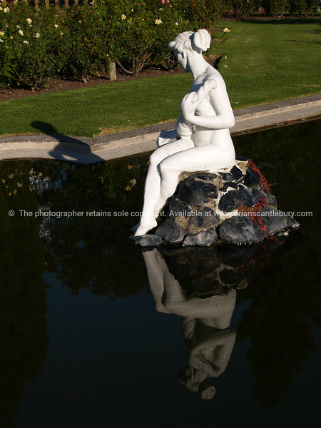 """Tauranga scenics.<br /> <br /> Lady in a pond, white lady statue on rock, Tauranga Rose gardens,New Zealand. Tauranga is New Zealands 5th largest city and offers a wonderfull variety of scenic and cultural experiences. Tauranga stock images Tauranga scenics. See;  <a href=""""http://www.blurb.com/b/3811392-tauranga"""">http://www.blurb.com/b/3811392-tauranga</a> mount maunganui landscape photography, Tauranga Photos; Tauranga photos, Photos of Tauranga Also see; <a href=""""http://www.brianscantlebury.com/Events"""">http://www.brianscantlebury.com/Events</a>"""