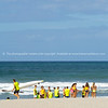 Members Mount Maunganui Surf Lifesavers club head down beach