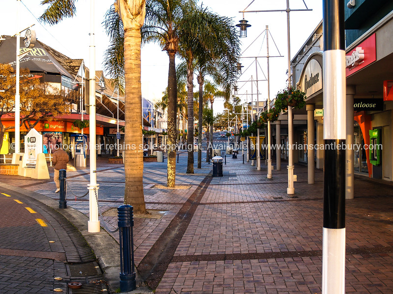 Tauranga CBD, pedestrian precinct known as Red Square.