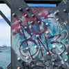 Graffiti on structure o9f Tauranga Railway Bridge.