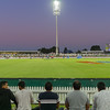 Game of cricket being played at Tauranga Bay Oval under lights.. Property & Model Releases; NO Use only for personal or editorial please.