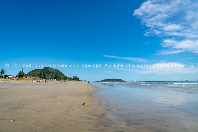 Wide flat ocean beach