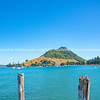 Mount Maunganui at northern end Pilot Bay
