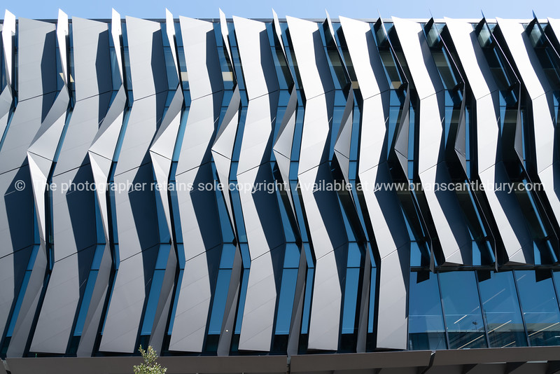 Architectural feature facades on modern new buildings.