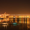 Tauranga Harbour Bridge and surrounds illuminates night sky and harbour