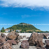 Landmark Mount Maunganui at end of main beach.