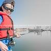 Boy on dock fishing