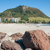 Mount Maunganui famous landmark at end of long main beach