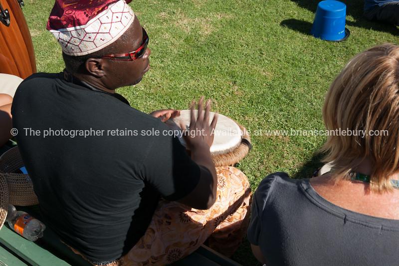 "Drummer, Jazz Festival-363<br /> Model Release; no. See;  <a href=""http://www.blurb.com/b/3811392-tauranga"">http://www.blurb.com/b/3811392-tauranga</a> mount maunganui landscape photography, Tauranga Photos; Tauranga photos, Photos of Tauranga Also see; <a href=""http://www.brianscantlebury.com/Events"">http://www.brianscantlebury.com/Events</a>"