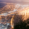 Scenic abstract Mount Maunganui at night. Tauranga, Mount Maunganui photos
