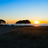 Golden sunrise over Mount Maunganui beach