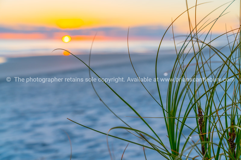 Morning light at sunrise at beach