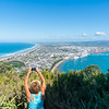 Beaches, sea harbor and city of Mount Maunganui