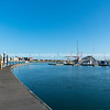 Port of Tauranga from Bridge Marina floating pier