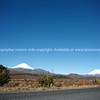 Snow capped peaks, Tongariro, Ngauruhoe and Ruapehu.