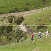 Cross country tramping. New Zealand images.