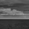 Karekare beach in black and white. New Zealand image.